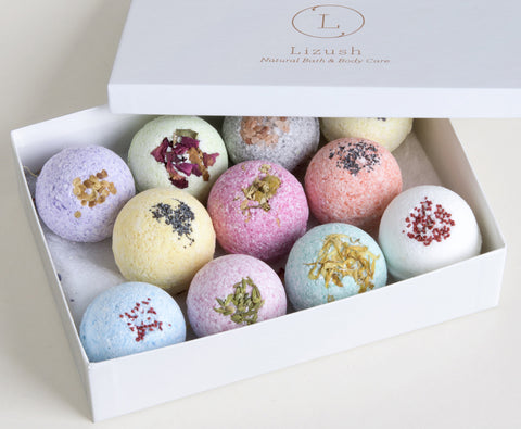 Natural Luxury Bath Bombs. Bath Bomb Gift Set - 11 Natural Bath Fizzy Bomb - FREE SHIPPING