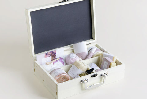 Spa gift in a Wooden Rustic Box -FREE SHIPPING!