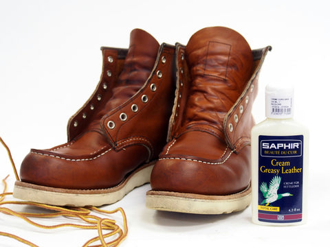 How to care for Horween Chromexcel and Oiled Leathers with Saphir Greasy Leather Cream