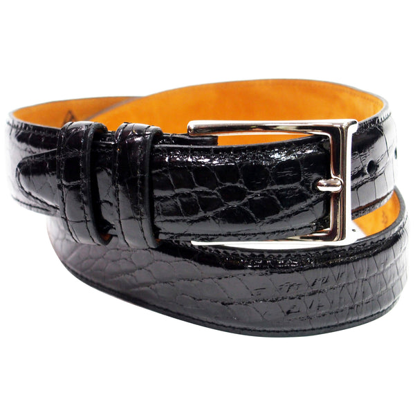 Genuine American Alligator Belt - Made in USA - Black