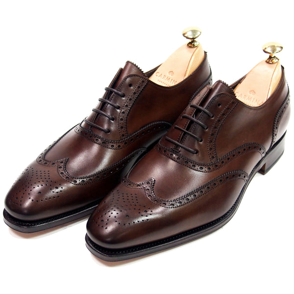Carmina Shoemaker Wingtip Derby - Vegano Brown - Made in Spain