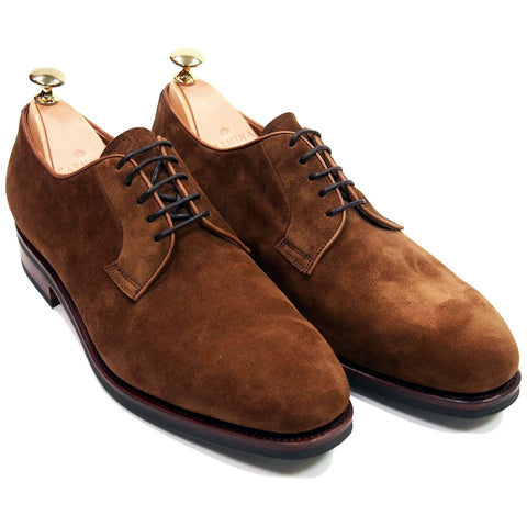 Carmina Shoemaker Plain Toe Derby - Snuff Suede - Made in Spain