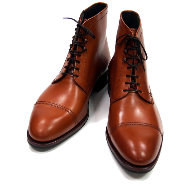 Carmina Shoemaker Jumper Boots - Cognac Calfskin - Made in Spain
