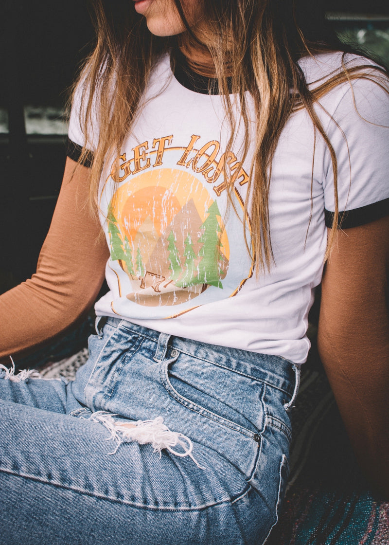 Get Lost Ringer Tee