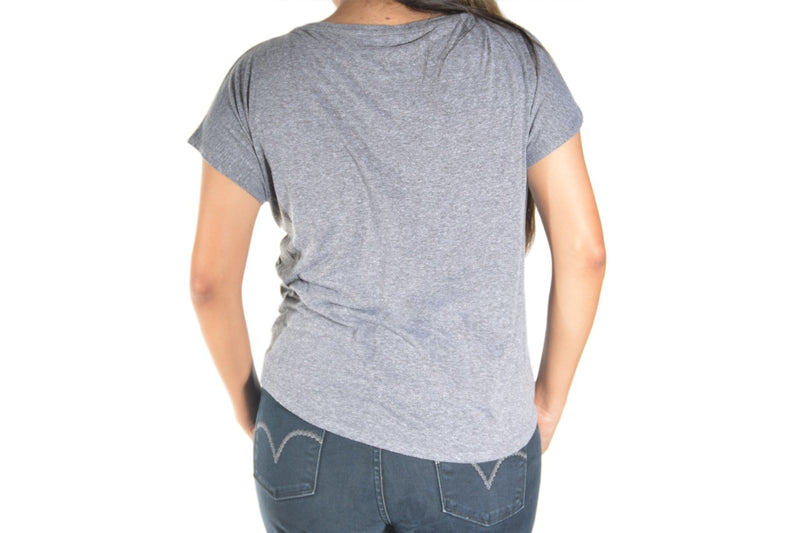 Wild and Free Ladies Flowy Scoop Neck Tee (Gray)