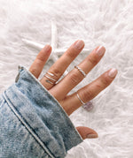 Hammered Reese Stacking Ring