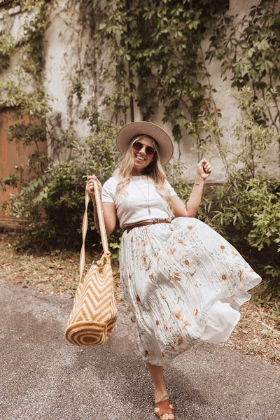 Mustard Crochet Bucket Bag