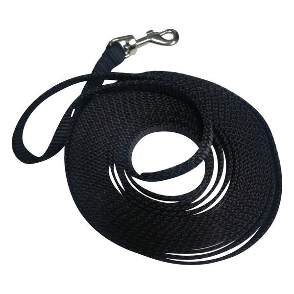 "Trainer webbing leash 15 foot by 5/8"" wide"