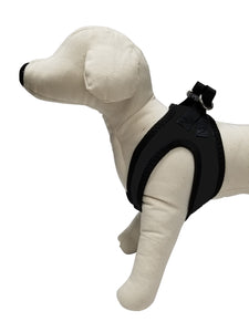 Sporty Black So-Soft™ Neoprene no-choke comfort harness
