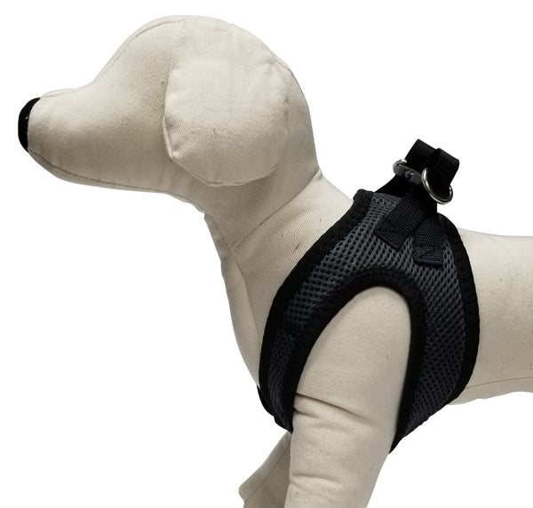 Charcoal So-Soft™ Mesh no-choke comfort harness