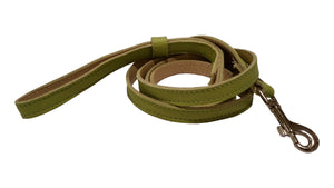 Lime Green leather leash 4-foot (Matches both Harness and Collar)