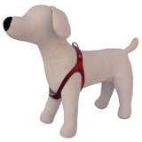 Red Patent snake No-Choke Dog Harness