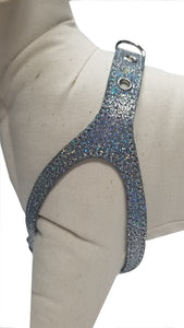 Silver Sparkle No-Choke Dog Harness