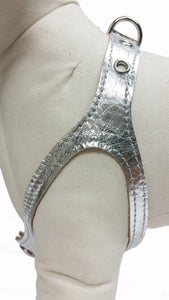 Silver Metallic No-Choke Dog Harness