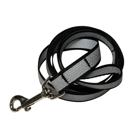 "Reflective webbing leash 3/4"" by 5 foot double sided hi-visibility"