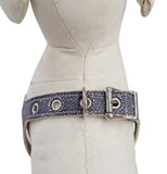 Silver Stingray Leather No-Choke Dog Harness