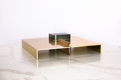MMXVS1 low table in polished brass - table basse en laiton poli