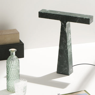 Bruchi Verde Imperiale Marble Table Lamp Mmairo at SORS