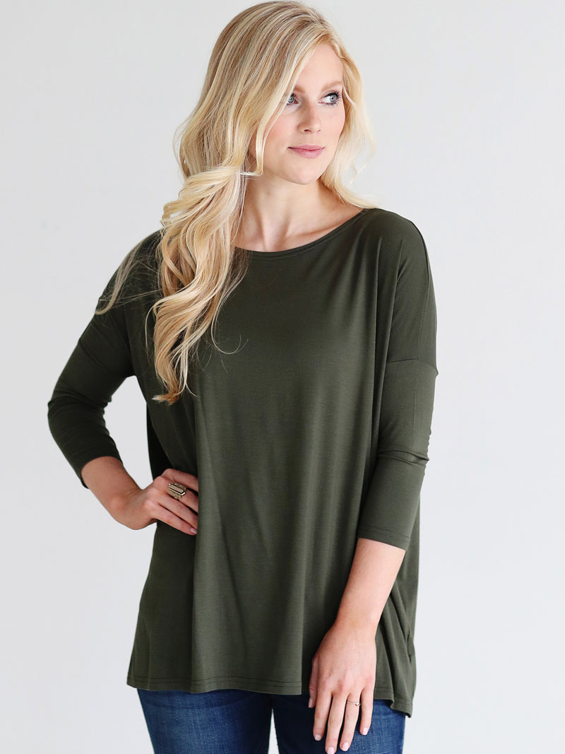 49314bfec47 Bamboo 3 4 Sleeve Top - 2 2 1 Pack – PIKO Wholesale