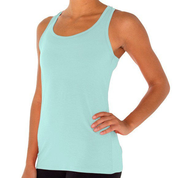 Freefly Apparel - Bamboo Racerback Tank - Pacific Blue