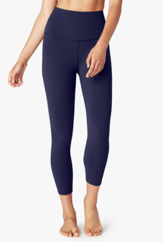 Beyond Yoga - High Waisted Capri - Valor Navy