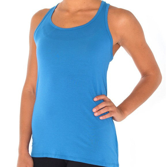 Freefly Apparel - Bamboo Racerback Tank - Surf Blue