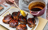 GRILLED PORK CHOPS WITH HONEY GARLIC GLAZE