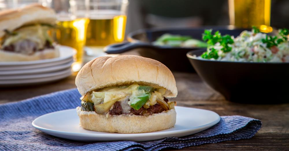 PHILLY CHEESESTEAK BURGERS