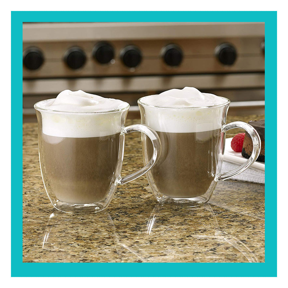 Bonjour 2-Piece Insulated Glass Latte Cup Set - Clear
