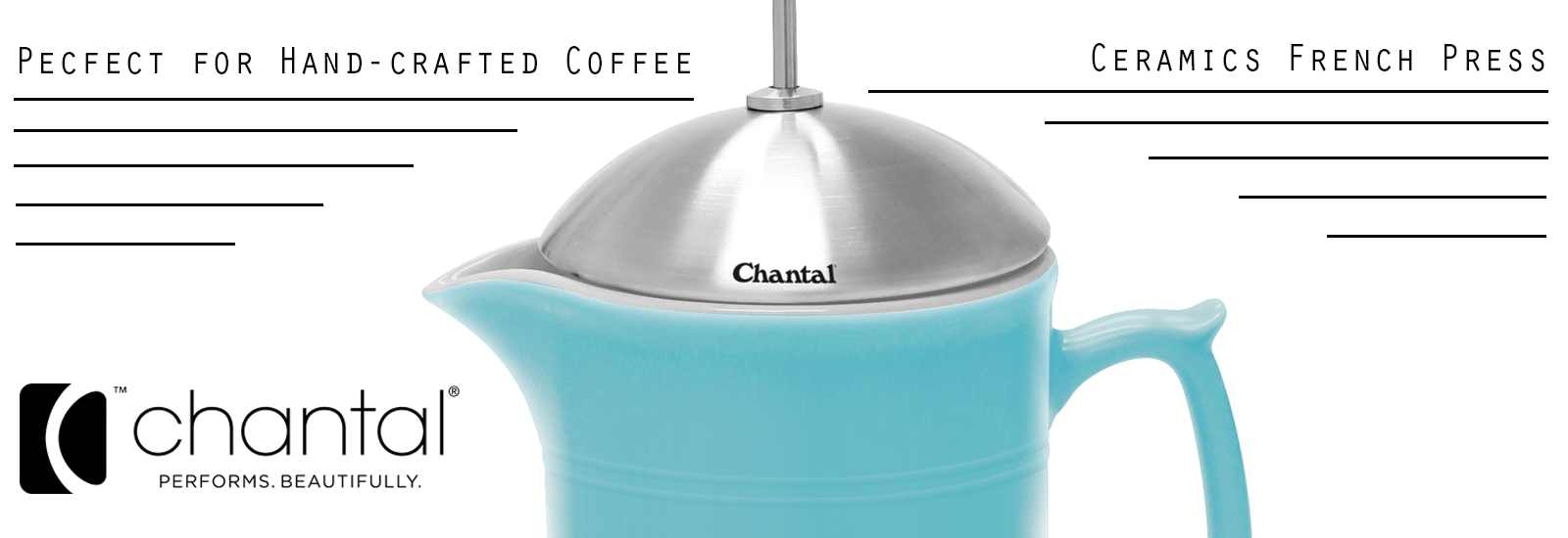 chantal Ceramic French Press