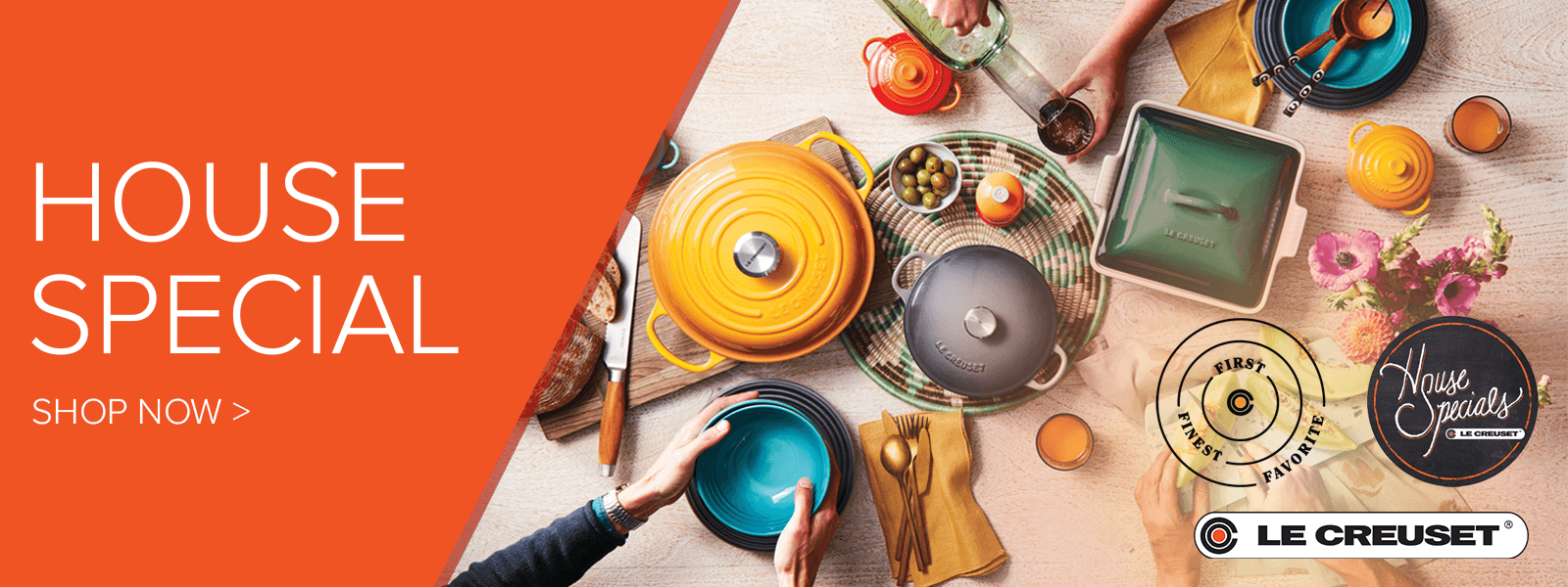 DASALLAS LE CREUSET HOUSE SPECIALS