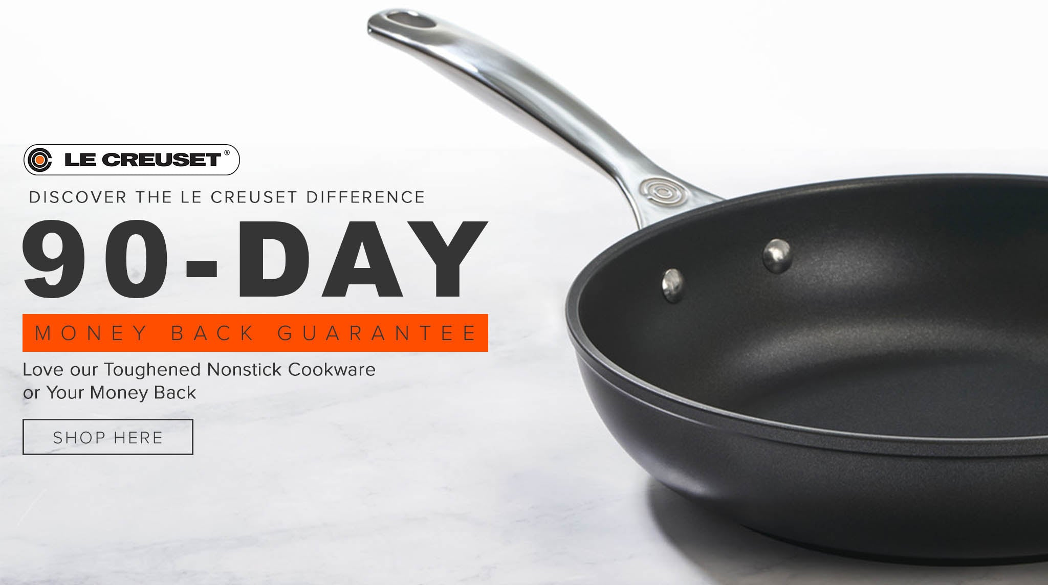 LE CREUSET TOUGHENED NONSTICK MONEY BACK
