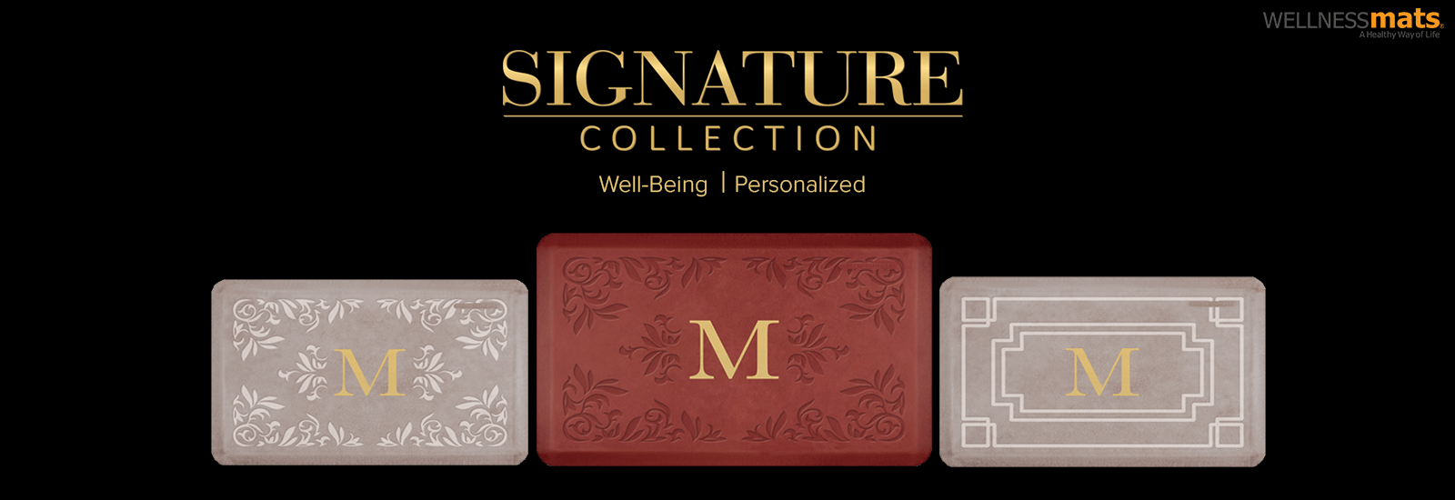 Wellness mats Signature banner