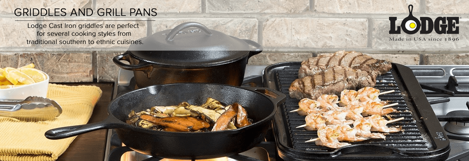 Lodge Griddles and Grill pans