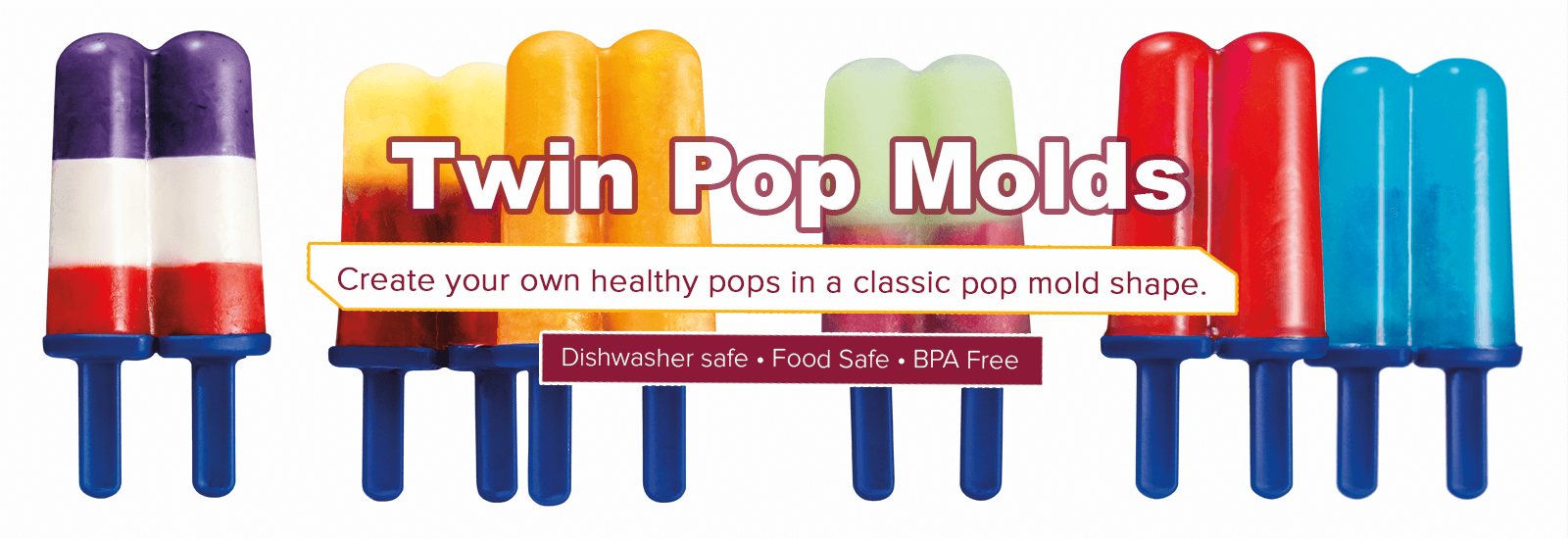 Tovolo Twin pops mold banner