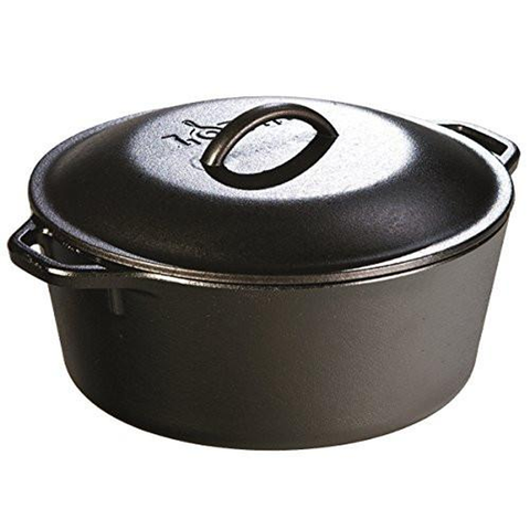 LODGE 5-QUART CAST IRON DUTCH OVEN