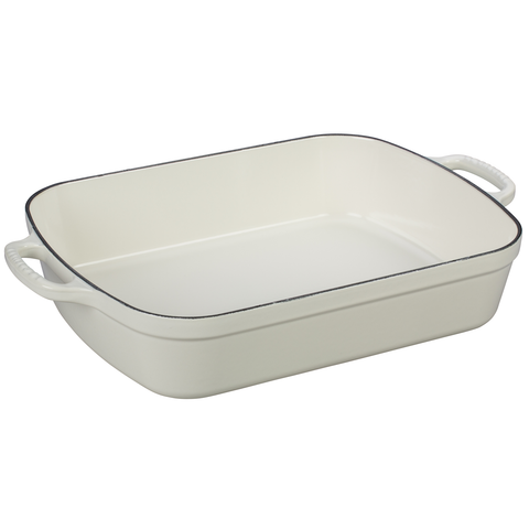 LE CREUSET 5.25-QUART SIGNATURE ROASTER - WHITE