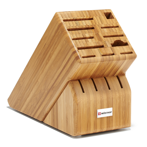 WUSTHOF 15-SLOT KNIFE BLOCK - BAMBOO