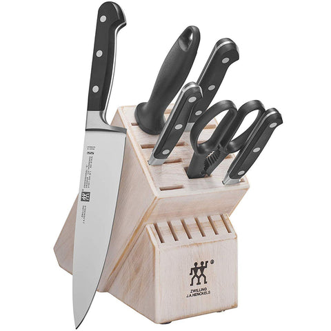 Zwilling J.A Henckels Professional S 7-Piece Knife Block Set - Rustic White
