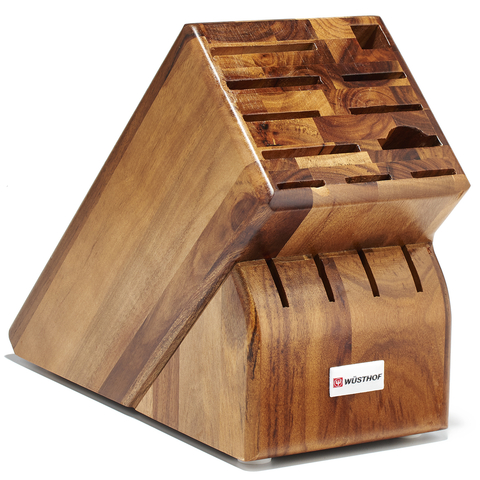 WUSTHOF 15-SLOT KNIFE BLOCK - ACACIA