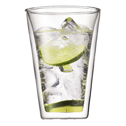 BODUM CANTEEN 13.5-OUNCE DOUBLE WALL GLASS, SET OF 2