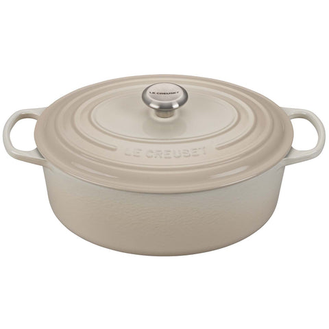 LE CREUSET 6.75-QUART OVAL DUTCH OVEN - MERINGUE