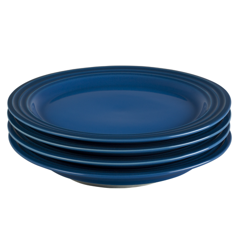 LE CREUSET 8½'' SALAD PLATES, SET OF 4 - MARSEILLE