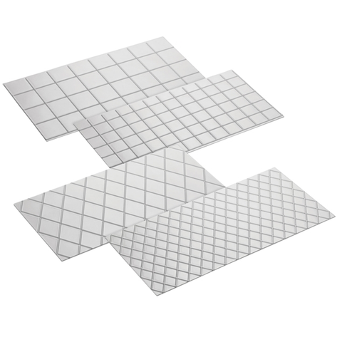 CAKE BOSS 4-PIECE QUILTED FONDANT IMPRINT MAT SET, CLEAR