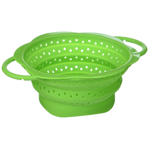 KUHN RIKON COLLAPSIBLE COLANDER, MINI - GREEN