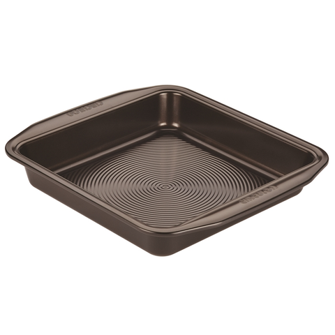 CIRCULON 9'' SQUARE CAKE PAN - CHOCOLATE BROWN