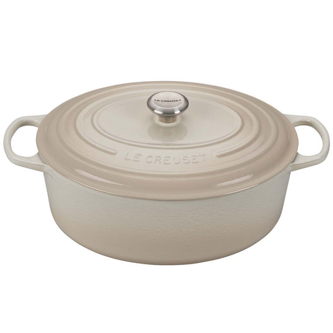 LE CREUSET 9.5-QUART OVAL DUTCH OVEN - MERINGUE