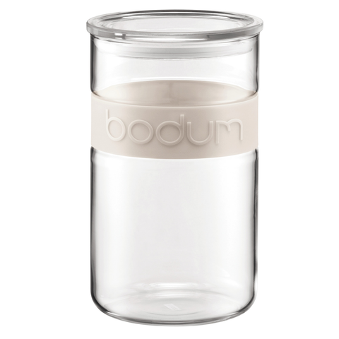 Bodum Presso 68-Ounce Storage Jar, Off-White