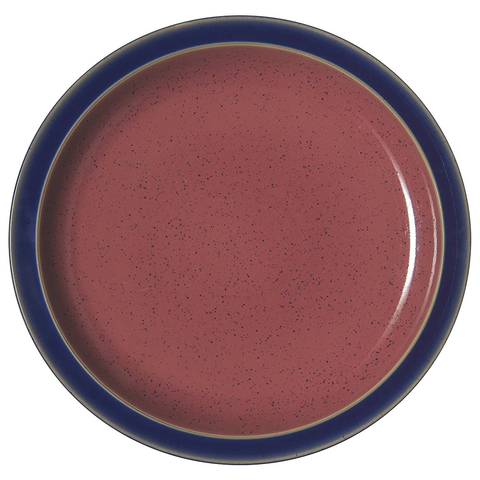 DENBY HARLEQUIN 10.25'' DINNER PLATE - BLUE/RED