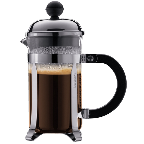 BODUM CHAMBORD 3-CUP SHATTERPROOF FRENCH PRESS - CHROME